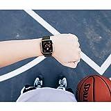 Corki für Apple Watch Armband 38mm 40mm, Weiches Nylon Ersatz Uhrenarmband für iWatch Apple Watch Series 4 (40mm), Series 3/ Series 2/ Series 1 (38mm), Rosa Gewebt Schwarz - 7