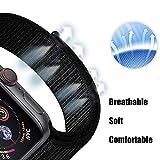 Corki für Apple Watch Armband 38mm 40mm, Weiches Nylon Ersatz Uhrenarmband für iWatch Apple Watch Series 4 (40mm), Series 3/ Series 2/ Series 1 (38mm), Dunkles Schwarz - 3
