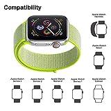 Corki für Apple Watch Armband 38mm 40mm, Weiches Nylon Ersatz Uhrenarmband für iWatch Apple Watch Series 4 (40mm), Series 3/ Series 2/ Series 1 (38mm), Blitzgelb - 4