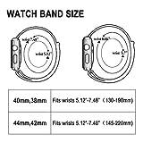 Corki für Apple Watch Armband 38mm 40mm, Weiches Nylon Ersatz Uhrenarmband für iWatch Apple Watch Series 4 (40mm), Series 3/ Series 2/ Series 1 (38mm), Blitzgelb - 5