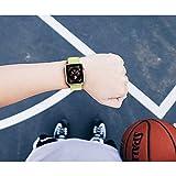 Corki für Apple Watch Armband 38mm 40mm, Weiches Nylon Ersatz Uhrenarmband für iWatch Apple Watch Series 4 (40mm), Series 3/ Series 2/ Series 1 (38mm), Blitzgelb - 7