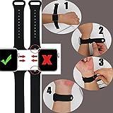 ZRO für Apple Watch Armband, Soft Silikon Ersatz Uhrenarmbänder für 42mm iWatch Serie 3/ Serie 2/ Serie 1, Größe S/M, Mitternacht Blau - 3
