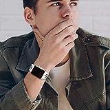 VIKATECH Für Apple Watch Armband 42mm, Weiche Silikon Ersatz Armbänder für Apple Watch Armband 42mm Series 3/2 / 1, Sport, Edition, M/L, Weiß/Schwarz - 6