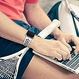 VIKATECH Für Apple Watch Armband 42mm, Weiche Silikon Ersatz Armbänder für Apple Watch Armband 42mm Series 3/2 / 1, Sport, Edition, M/L, Weiß/Schwarz - 7